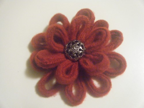 Felted sweater flowers