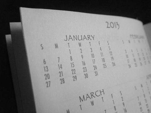 2013 Calendar Page
