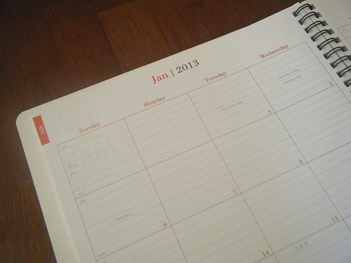 Keeping Track Paper Calendar