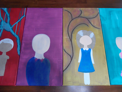 Four Larger Canvases