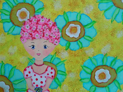 Spring Flowers Girl 1