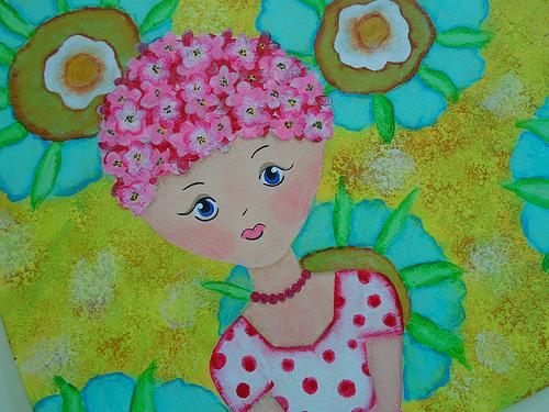 Spring Flowers Girl 2