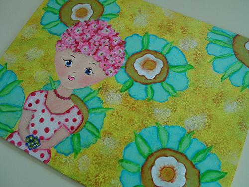 Spring Flowers Girl 3