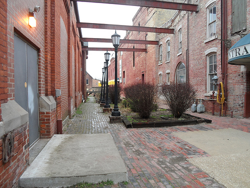 K & S Brewing Company Walkway Between Buildings
