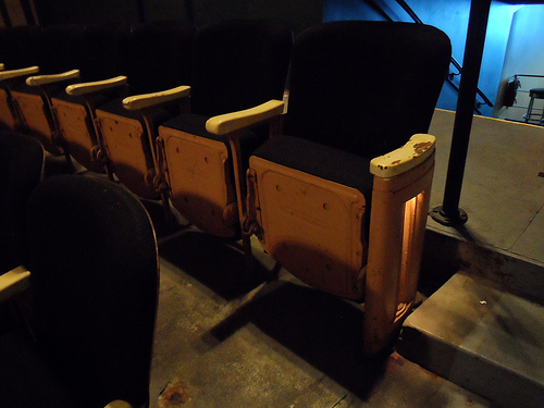 Lafayette Theater Original Seats Detail