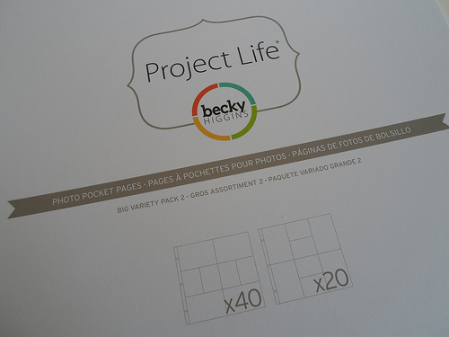 Project Life Photo Pocket Pages