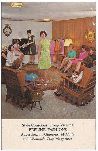 Beeline Fashions Postcard