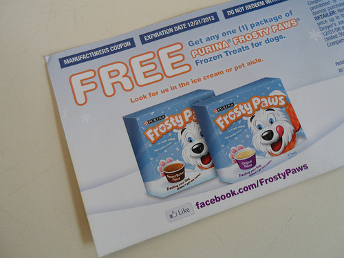 Special Frosty Paws Coupon